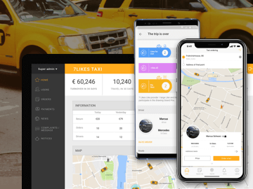 7Likes - Taxi App Development for iOS and Android