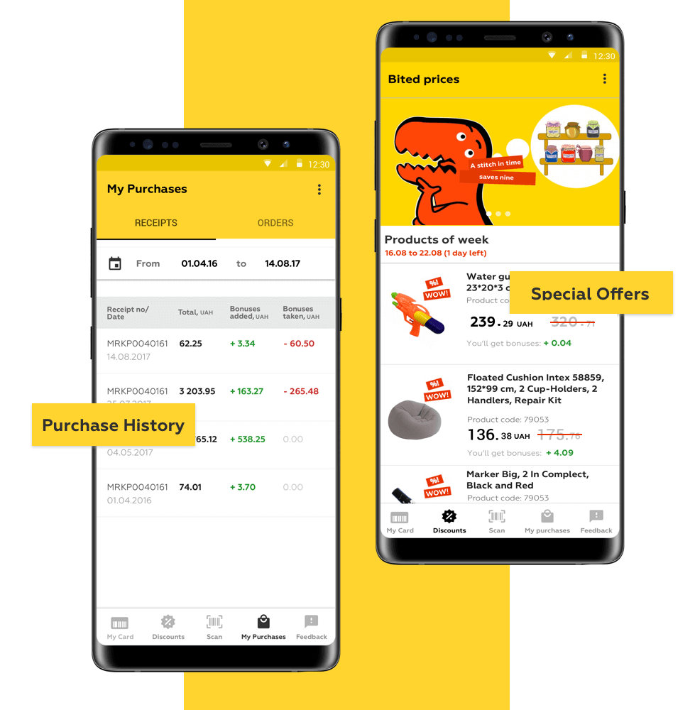create supermarket prices app