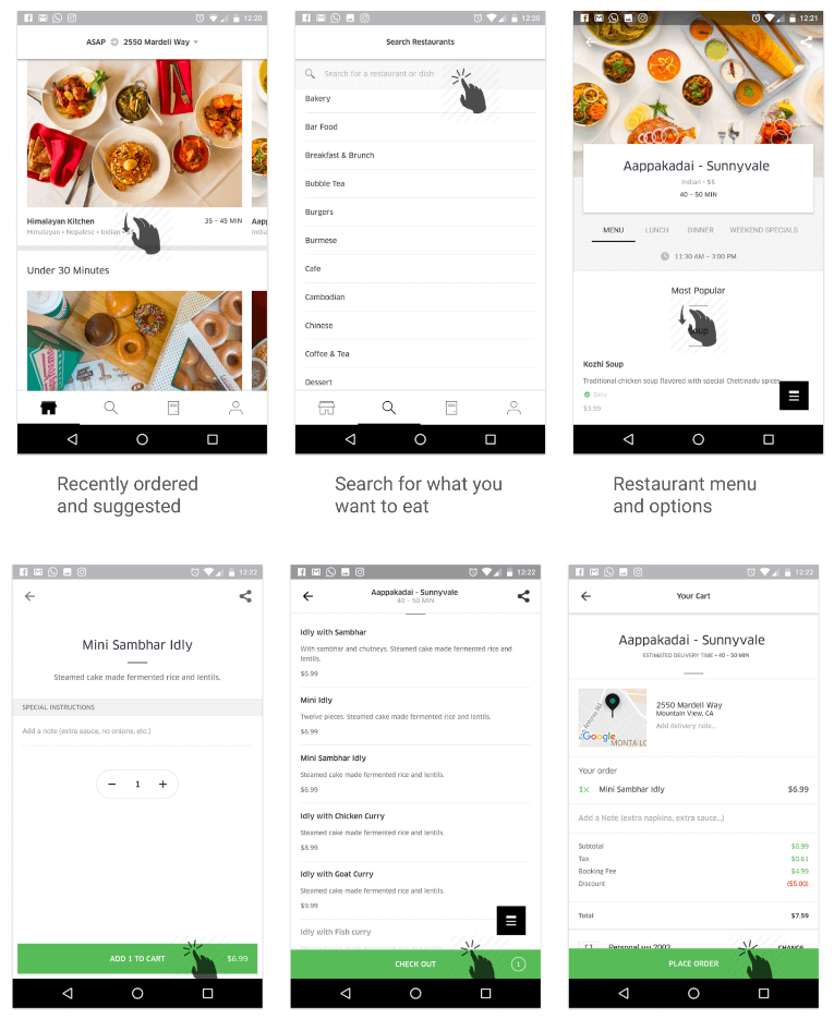 How to create a food delivery application similar to