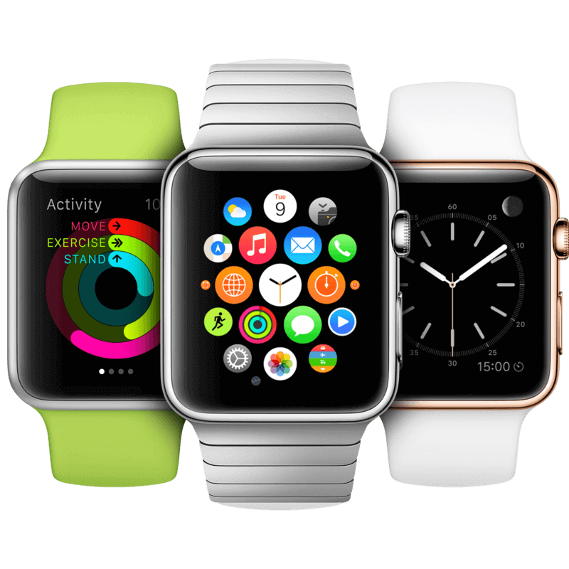 Apple Watch, Android Watch, фитнес-браслеты